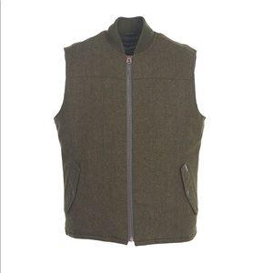 Men's Wool Vest Size Lg- Woolrich, Forest Green